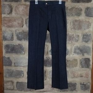 NYDJ Not Your Daughter Jeans gold metallic blue jeans sz 8 wide leg stretch